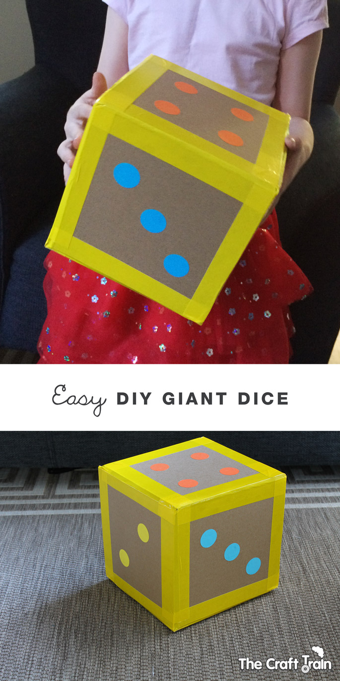 Easy Diy Giant Dice The Craft Train