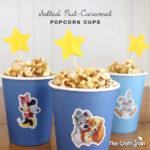 salted nut-caramel popcorn cups