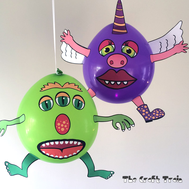 Printable Balloon Monsters