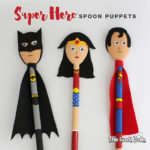 Wooden Spoon Super Hero Puppets craft