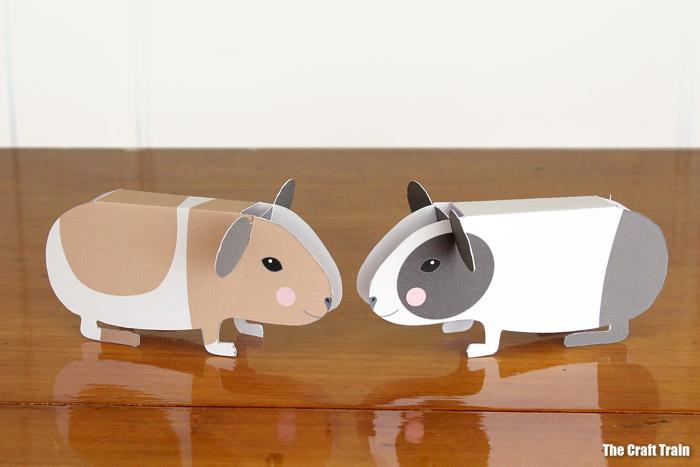 Big paper guinea pigs – mama or Dad