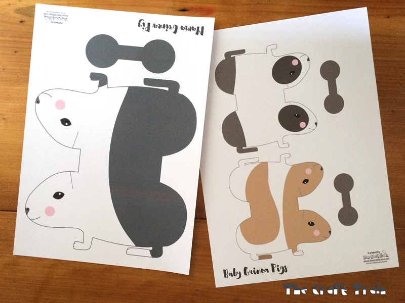 Printable Paper Guinea Pigs : The Craft Train