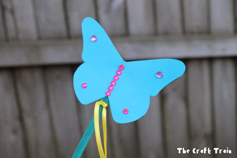 paper butterfly wand