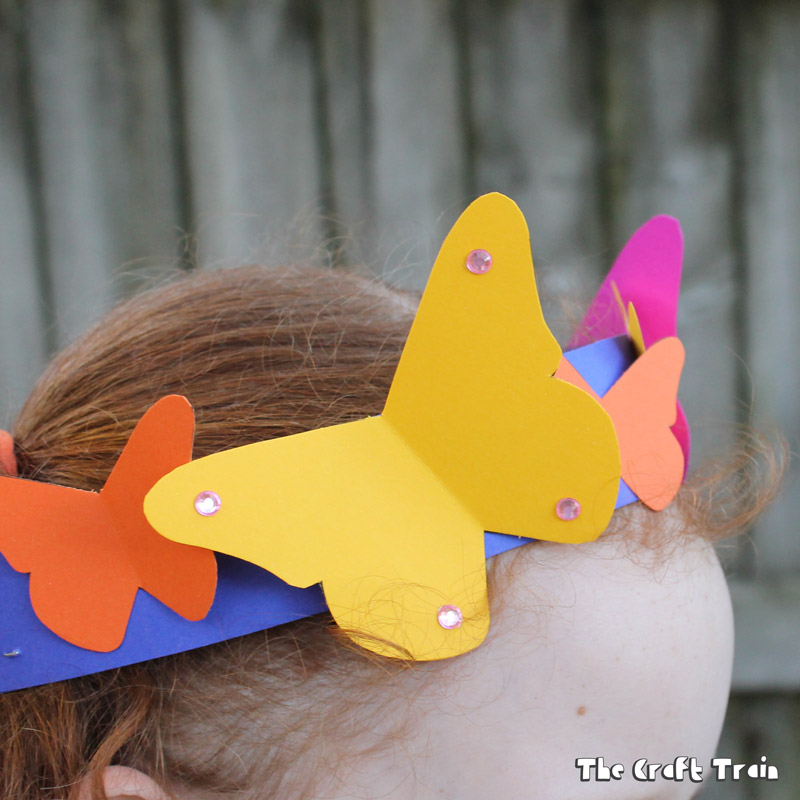 Printable butterfly tiara and wand