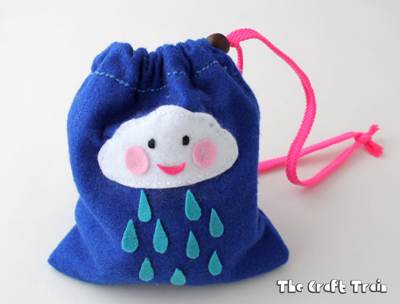 Weather Stones felt bag