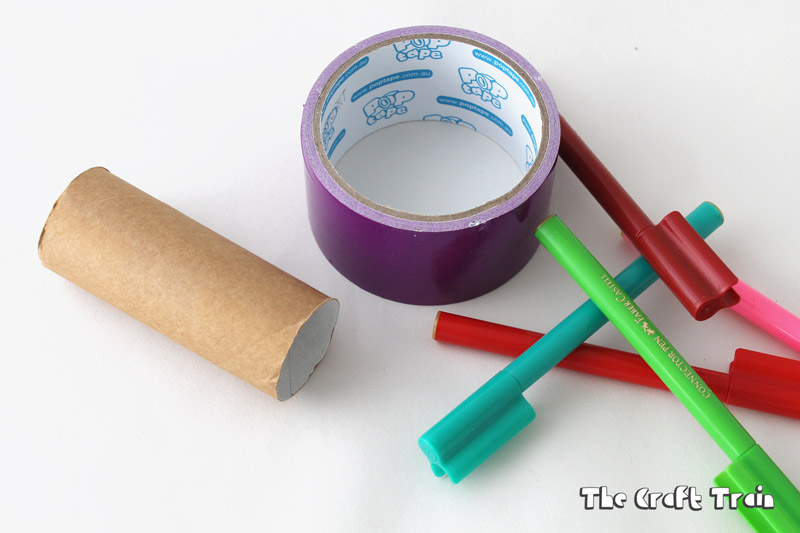 How to make toilet paper roll scribblers