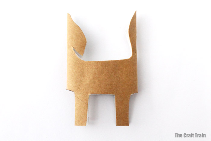 fox shape cut out from paper roll