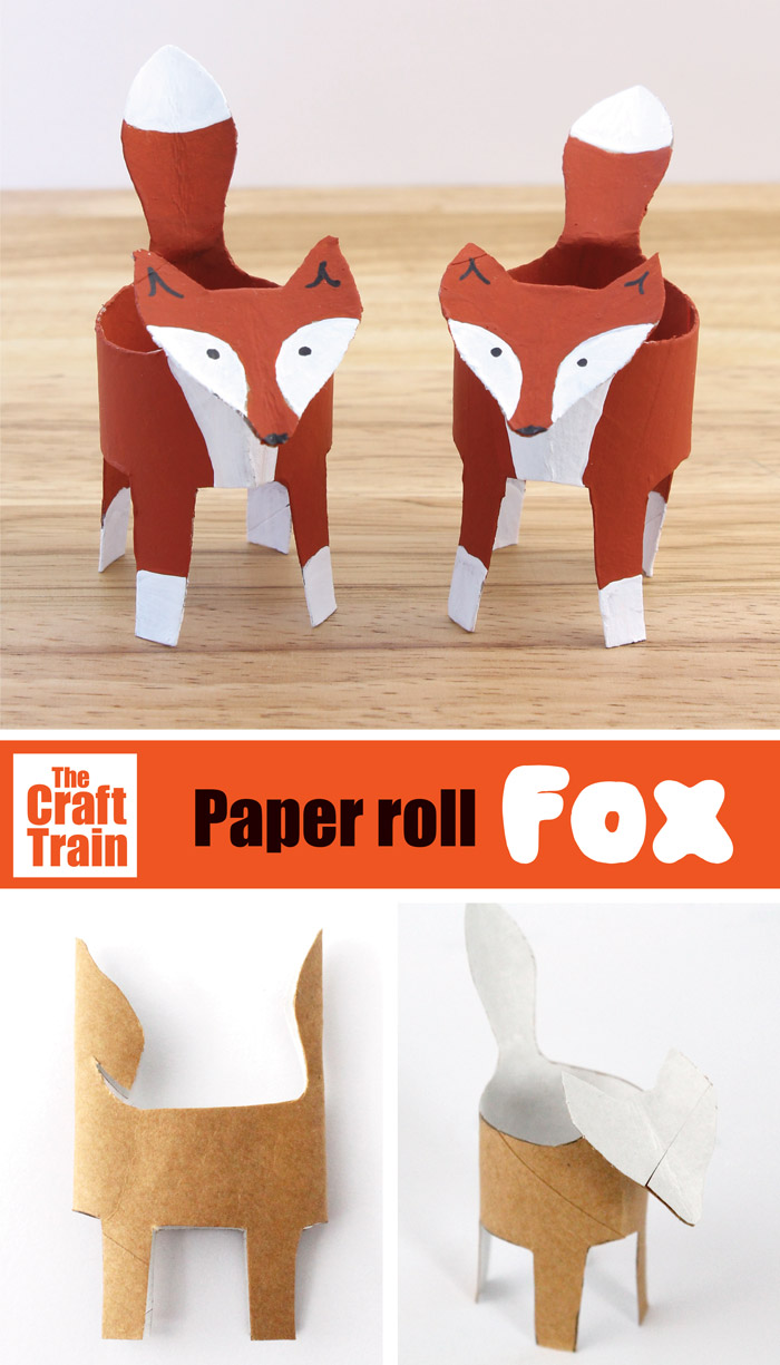 paper roll fox craft for kids