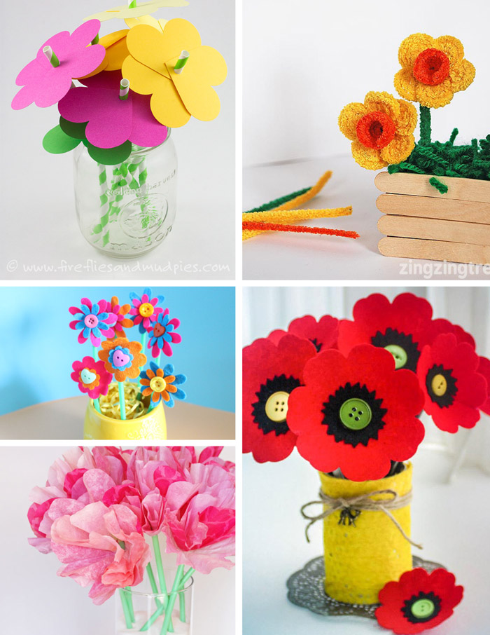 50 Fabulous Flower Crafts For Kids The Craft Train
