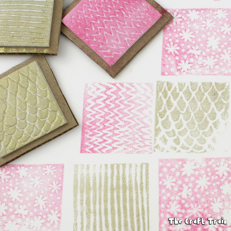 Easy DIY textured foam stamps kids can make