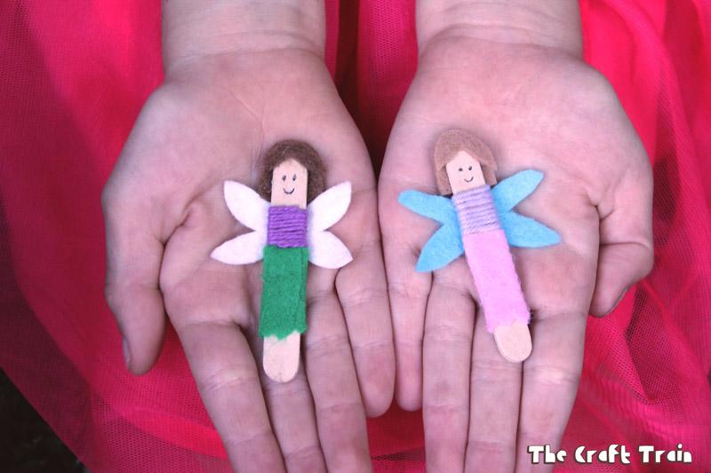 Mini craft stick fairies