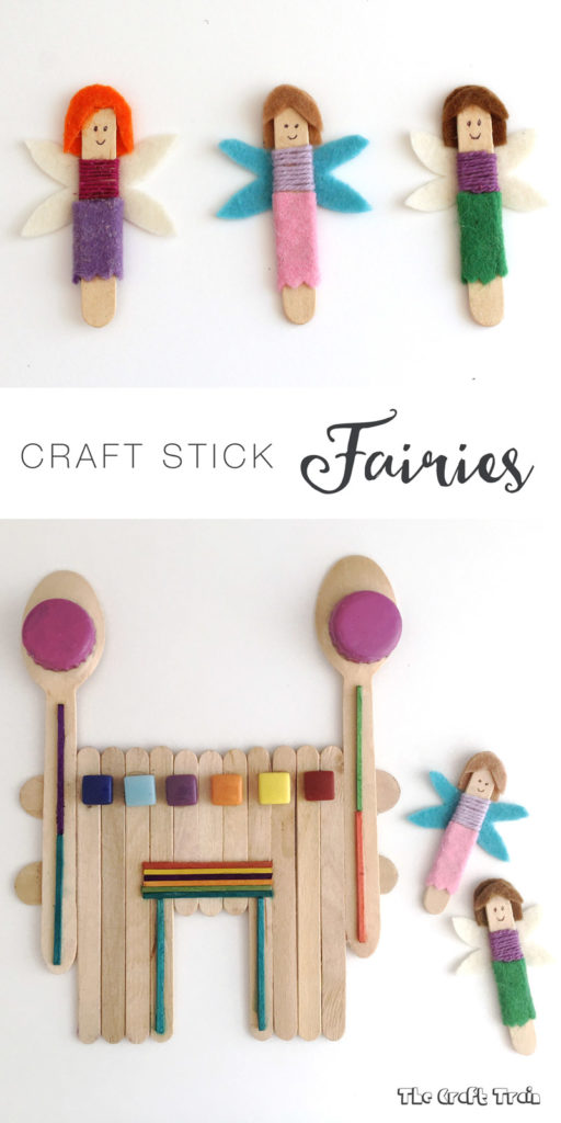 Easy craft stick fairies and magic castle