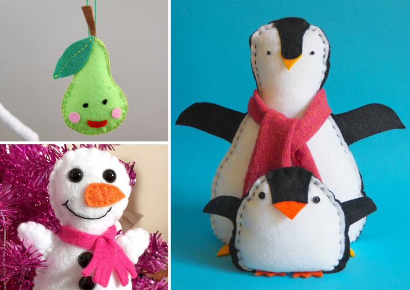 Easy Christmas sewing crafts for kids