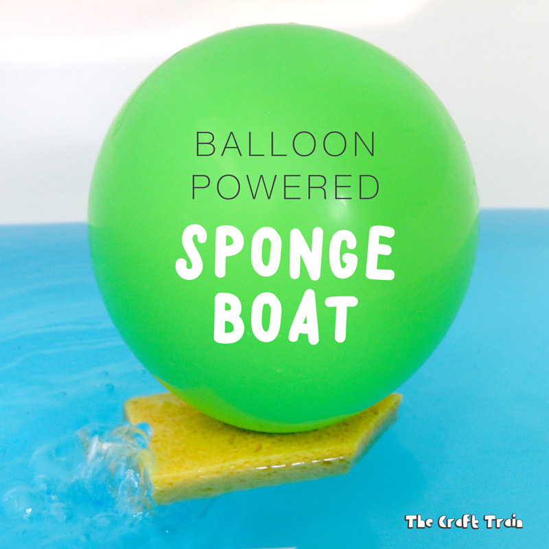 balloon powered boat craft for kids