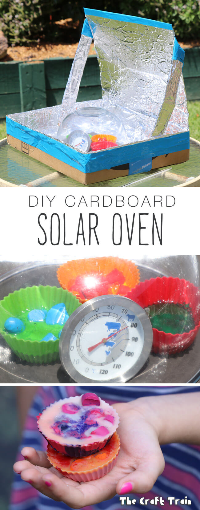 Diy solar oven from a repurposed cardboard box the craft for Solar energy projects for kids