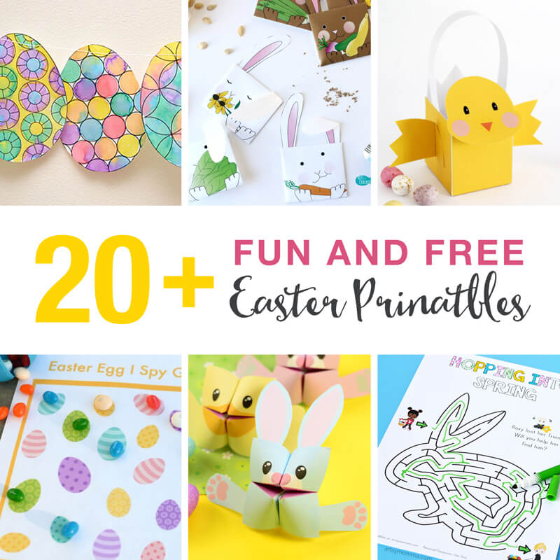20 Fun And Free Easter Printables For Kids The Craft Train
