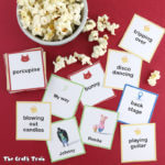 A fun set of printable SING-themed charades to play on family movie night