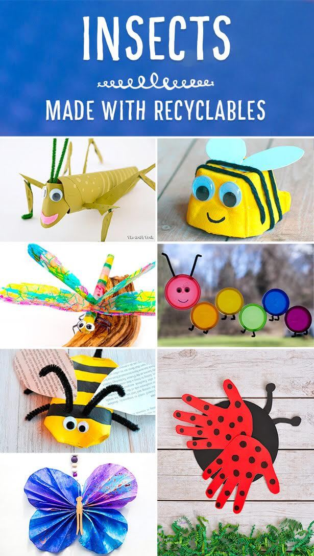 Cardboard Tube Grasshopper Recycling Craft For Kids The Craft Train