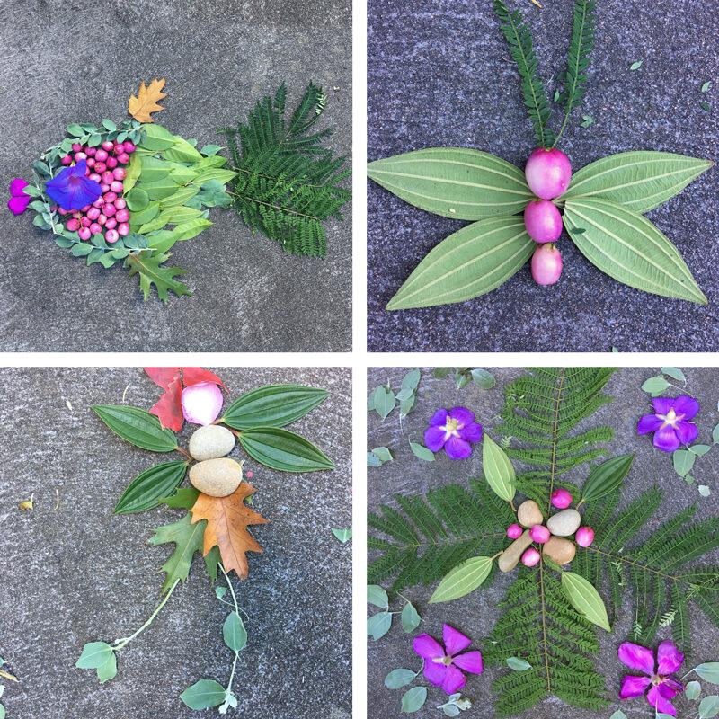 Garden nature art