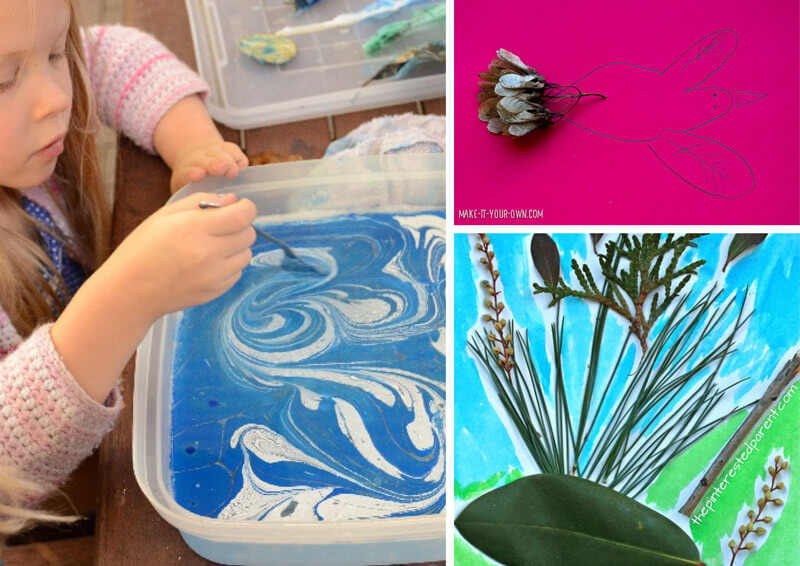 21 gorgeous and inspiring nature art ideas for kids