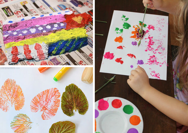 21 beautiful and inspiring ideas for kids to create art using nature