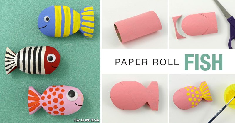 Paper Roll Fish Recycling Craft The Craft Train