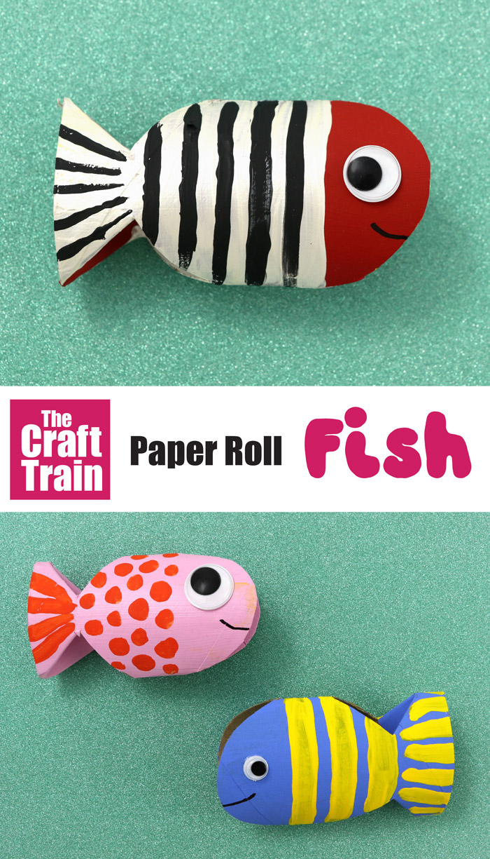 paper roll fish craft for kids