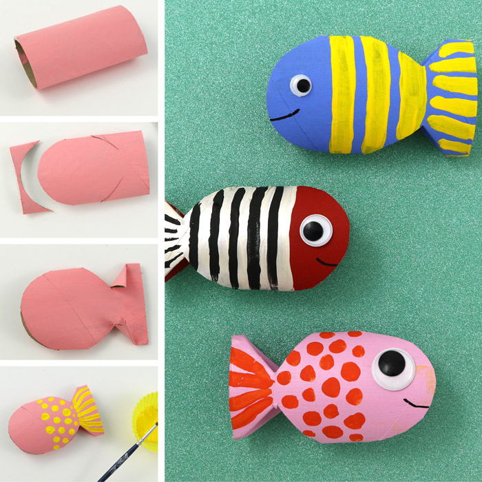 paper roll fish craft and steps