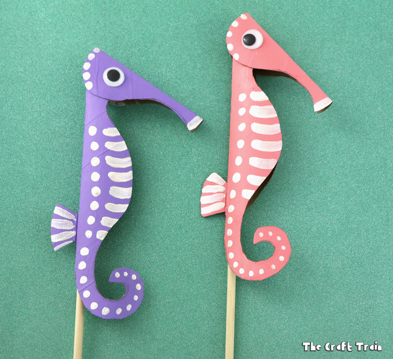 Seahorse Template Cut Out from www.thecrafttrain.com