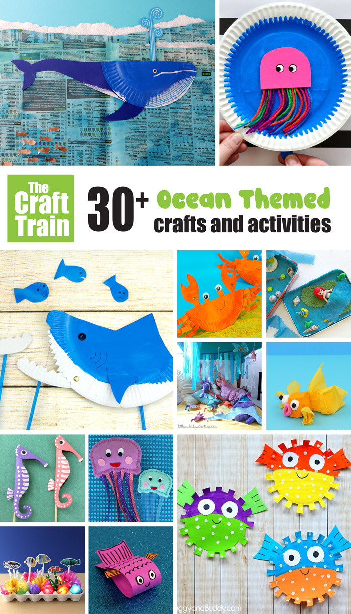 Over 3o awesome ocean themed crafts and activities kids will love! Perfect for Summer
