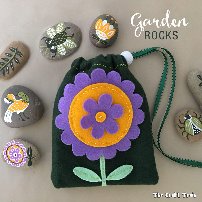 A fun rock painting craft inspired by traditional folk art. Store the rocks  in a 82f400c4d2bac