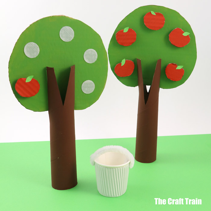 Cardboard apple tree craft