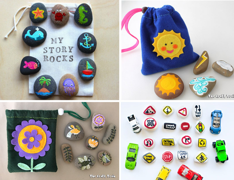 Make 25+ adorable DIY toys using rocks: busy bags