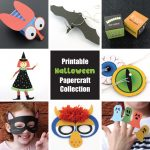 Halloween paper crafts for kids - a printable craft collection of 8 creative, fun and decorative crafts for Halloween