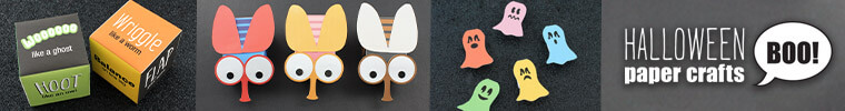 easy and fun Halloween paper crafts kids will love!