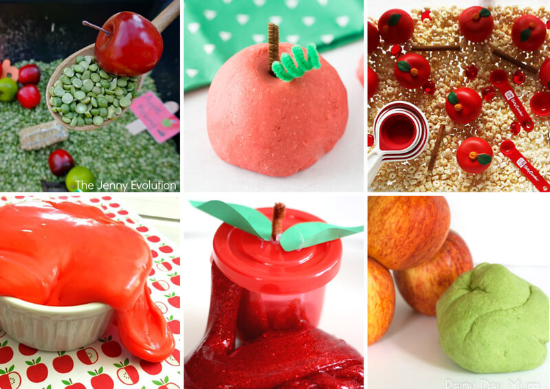 Sensory apple activities for kids