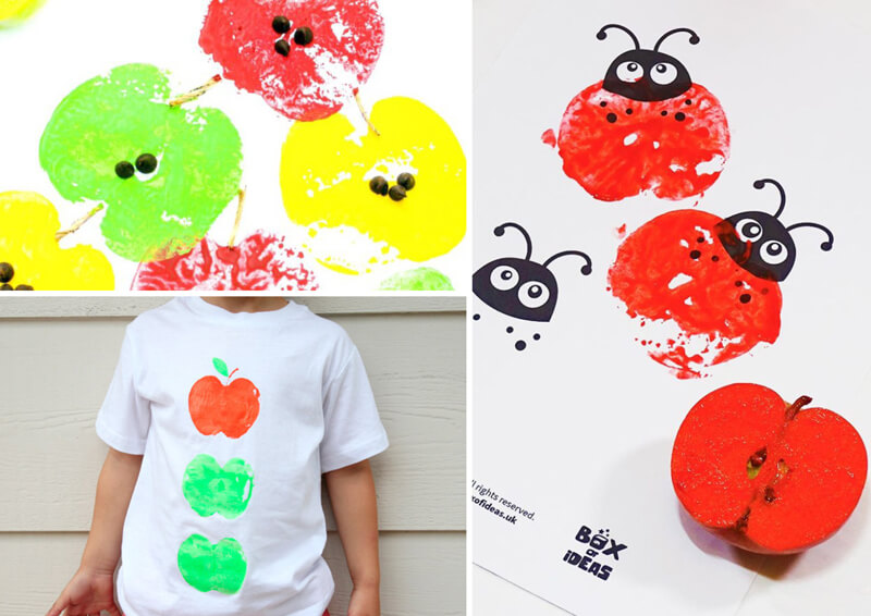 Apple stamping for kids