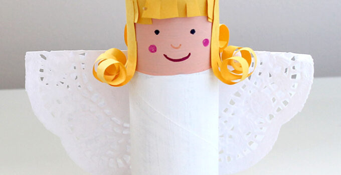 easy paper roll angel craft for kids
