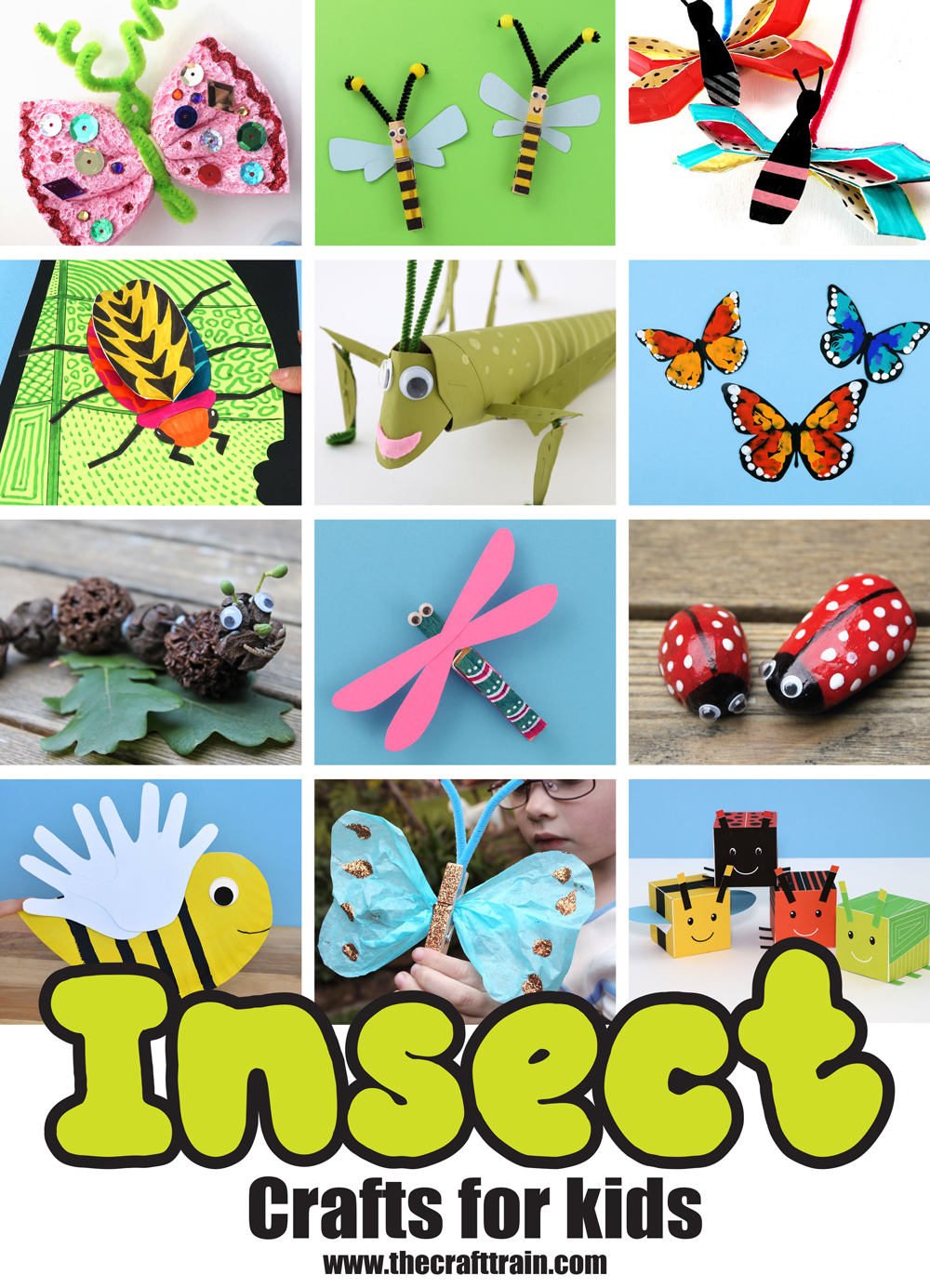 Insect crafts for kids – over 20 bug craft projects kids will love