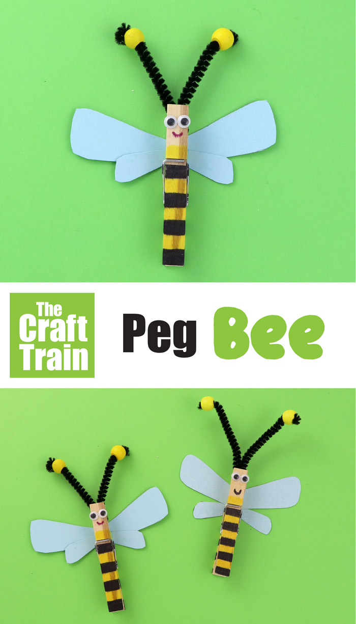 simple peg bee craft for kids