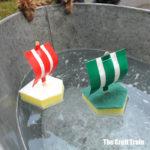 easy boat craft for kids using sponges