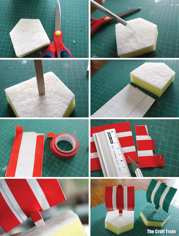 Sponge boats - step by step photos on how to make them