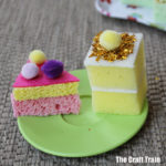 pretend play food - make sponge cakes with glitter icing from sponges