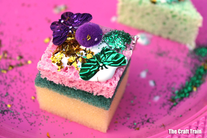 adorable sponge cake craft