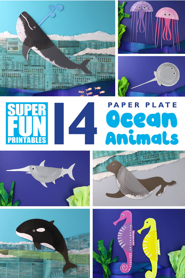 photograph regarding Printable Ocean Animals named 14 Paper Plate Ocean Pets The Craft Practice