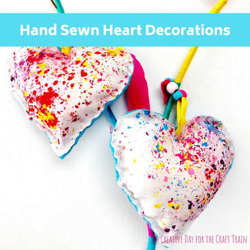 Make a hand sewn heart with this printable pattern