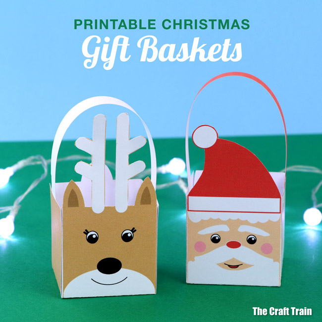 photo about Printable Christmas Art identify printable Xmas baskets The Craft Coach