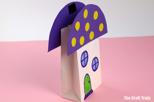 paper bag fairy house side view