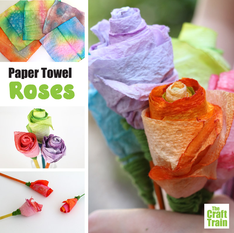 how to make paper towel roses