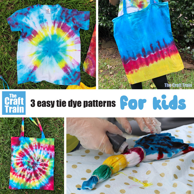 How to tie dye 3 easy patterns